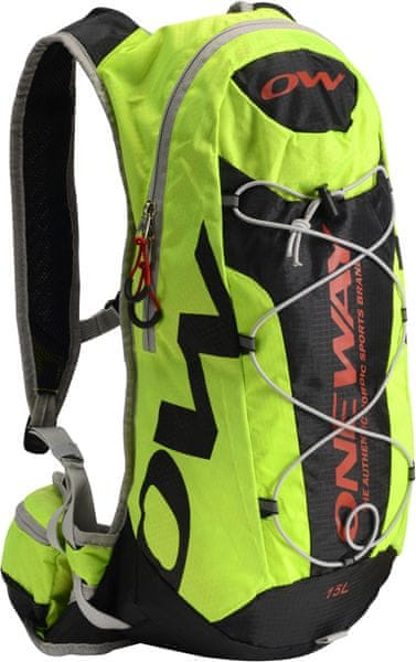 One Way Hydro Back Bag 15L Black- Yellow
