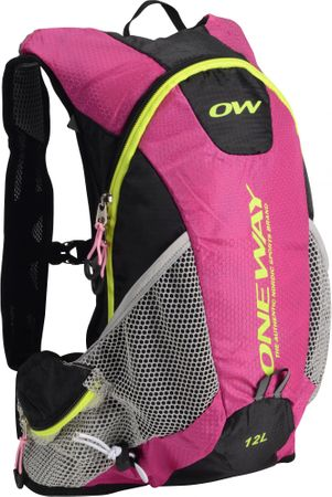 One Way Plecak Run Hydro Back 12L Pink-Black