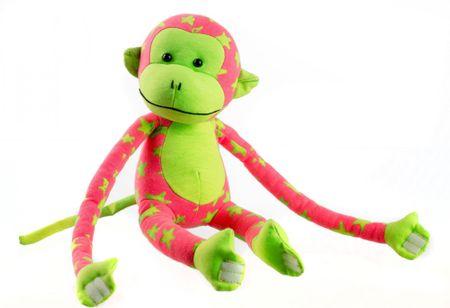 Teddies Sötétben világító majmocska - rózsaszín/zöld