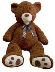 Teddies Medveď s mašľou plyš 80cm