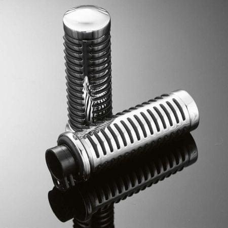 Highway-Hawk gripy 25mm  CLASSIC s uchytením laniek, chróm/čierna (2ks)