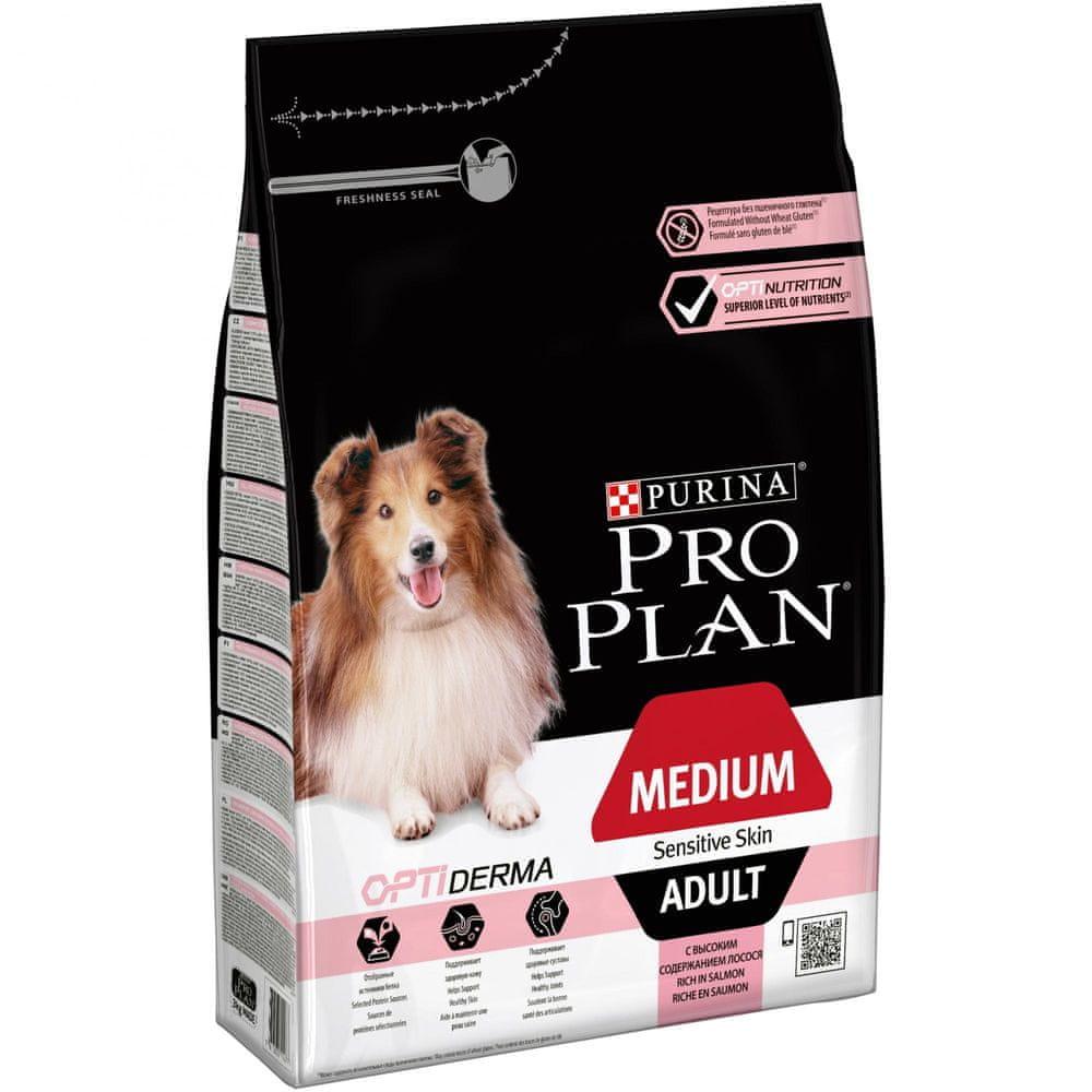 Purina Pro Plan Medium Adult OPTIDERMA losos 3kg