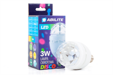Abilite disko LED sijalka RGB 3W