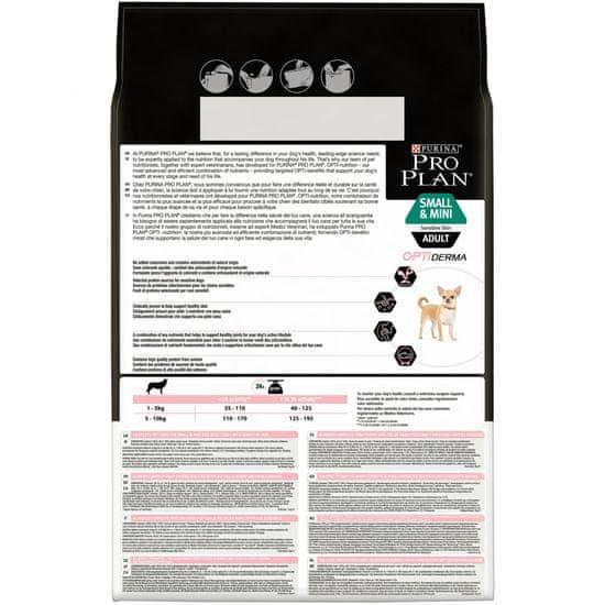 Purina Pro Plan hrana za odrasle pse mini in majhne pasme z občutljivo kožo 3kg