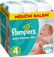 Pampers plenice Active Baby 4 Maxi, 174 kosov