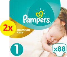 Pampers plenice Premium Care Newborn 1, 176 kosov