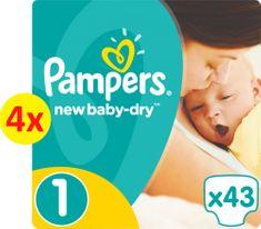 Pampers New Baby 1 Newborn - 172 ks