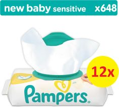 Pampers vlažne maramice Sensitive 12 x 54 komada