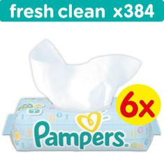 Pampers Baby Fresh Clean 6 x 64 db