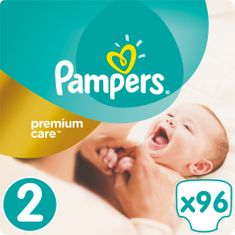 Pampers Pleny PremiumCare 2 Mini - 3-6 kg, 96 ks