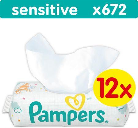 Pampers vlažne maramice Sensitive 12 x 56 komada