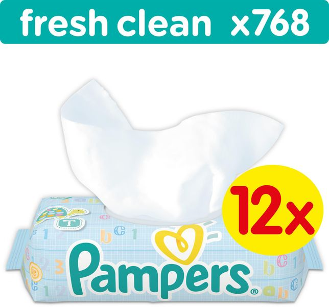 Pampers Pampers Vlhčené ubrousky Pampers Fresh Clean 12x64ks