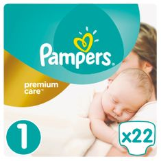 Pampers plenice Premium Care Newborn 1, 2-5 kg, 22 kosov