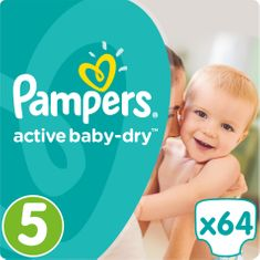 Pampers plenice Active Baby 5 Junior, 64 kosov