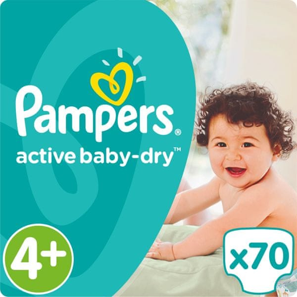 Pampers Pleny Active Baby 4+ Maxi (9-16kg) Giant Pack - 70ks