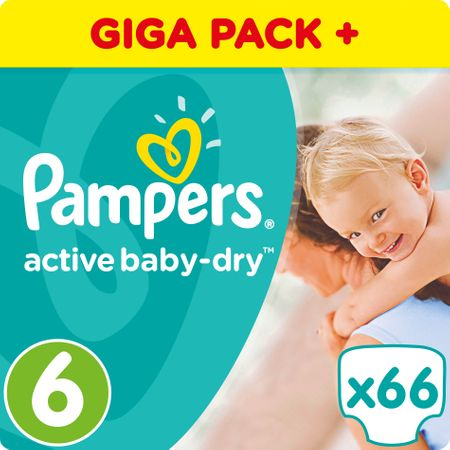 Pampers Active Baby 6 Extra Large 15 Kg Giant Box 66