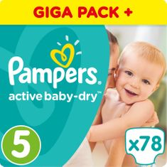 Pampers Pleny Active Baby 5 Junior (11-18kg) Giant Box - 78ks
