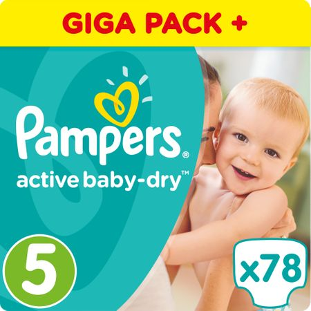 Pampers plenice Active Baby 5 Junior, 78 kosov