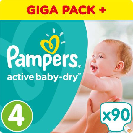 Pampers plenice Active Baby 4 Maxi, 90 kosov