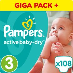 Pampers Active Baby 3 Midi (4-9kg) Giant Box -108ks