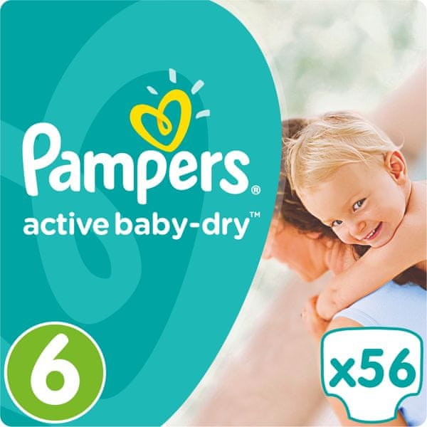 Pampers Pleny Active Baby 6 Extra Large (15+kg) Giant Pack - 56 ks
