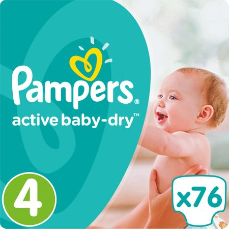 Pampers plenice Active Baby 4 Maxi, 76 kosov