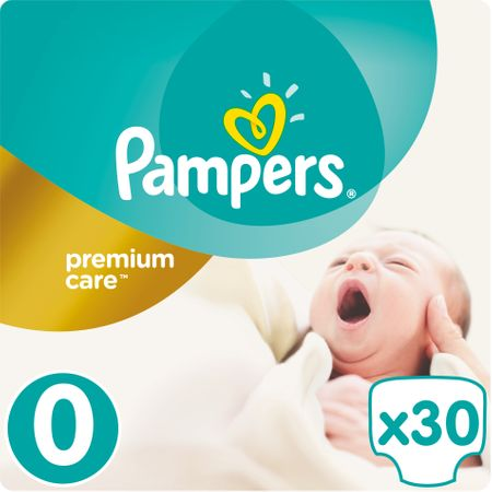 Pampers plenice Premium Care 0 Newborn, 30 kosov
