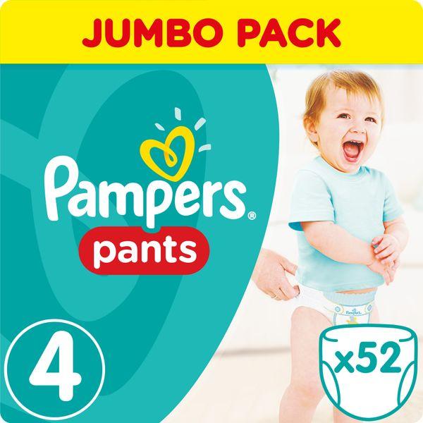 Pampers Plenkové kalhotky ActivePants 4 Maxi Jumbo Pack 52 ks