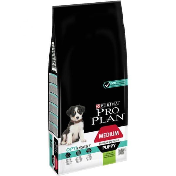 Purina Pro Plan Medium Puppy OPTIDIGEST pro citlivé trávení 12 kg