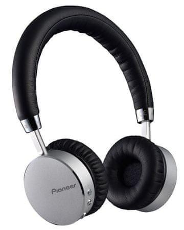 Pioneer brezžične Bluetooth slušalke SE-MJ561BT-S, srebrne
