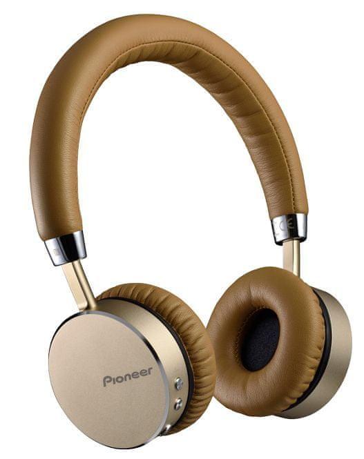 Pioneer SE-MJ561BT-T bezdrátová sluchátka, světle hnědá