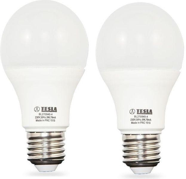 Tesla LED žárovka BULB, E27, 9W 2pack BL270940-4