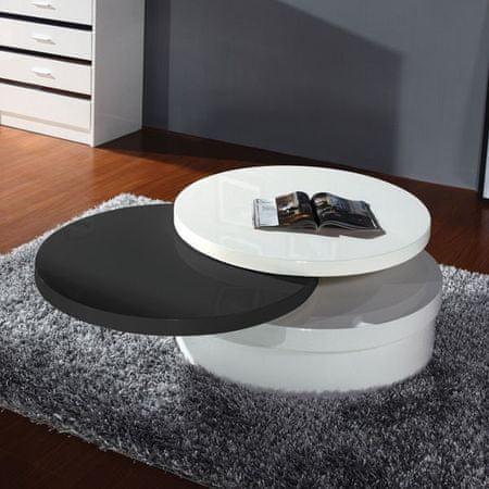 Klubska miza JANI, črno-bela