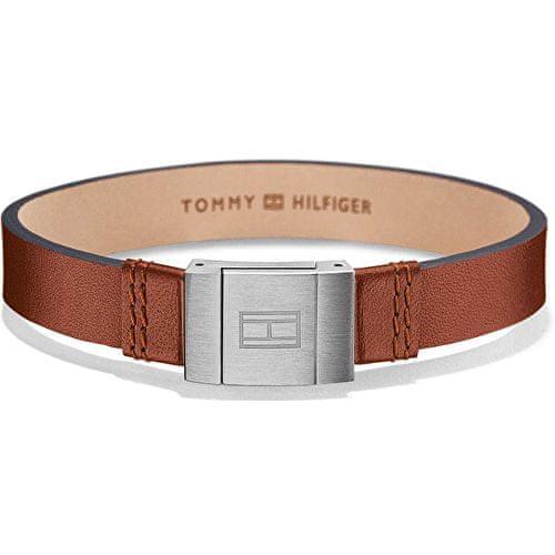 Tommy Hilfiger Stylový náramek z hnědé kůže TH2700949