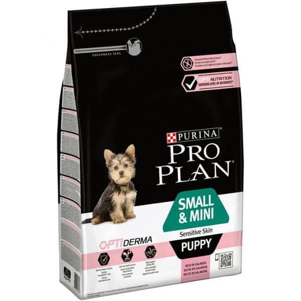 Purina Pro Plan Small & Mini Puppy OPTIDERMA pro citlivou kůži 3kg