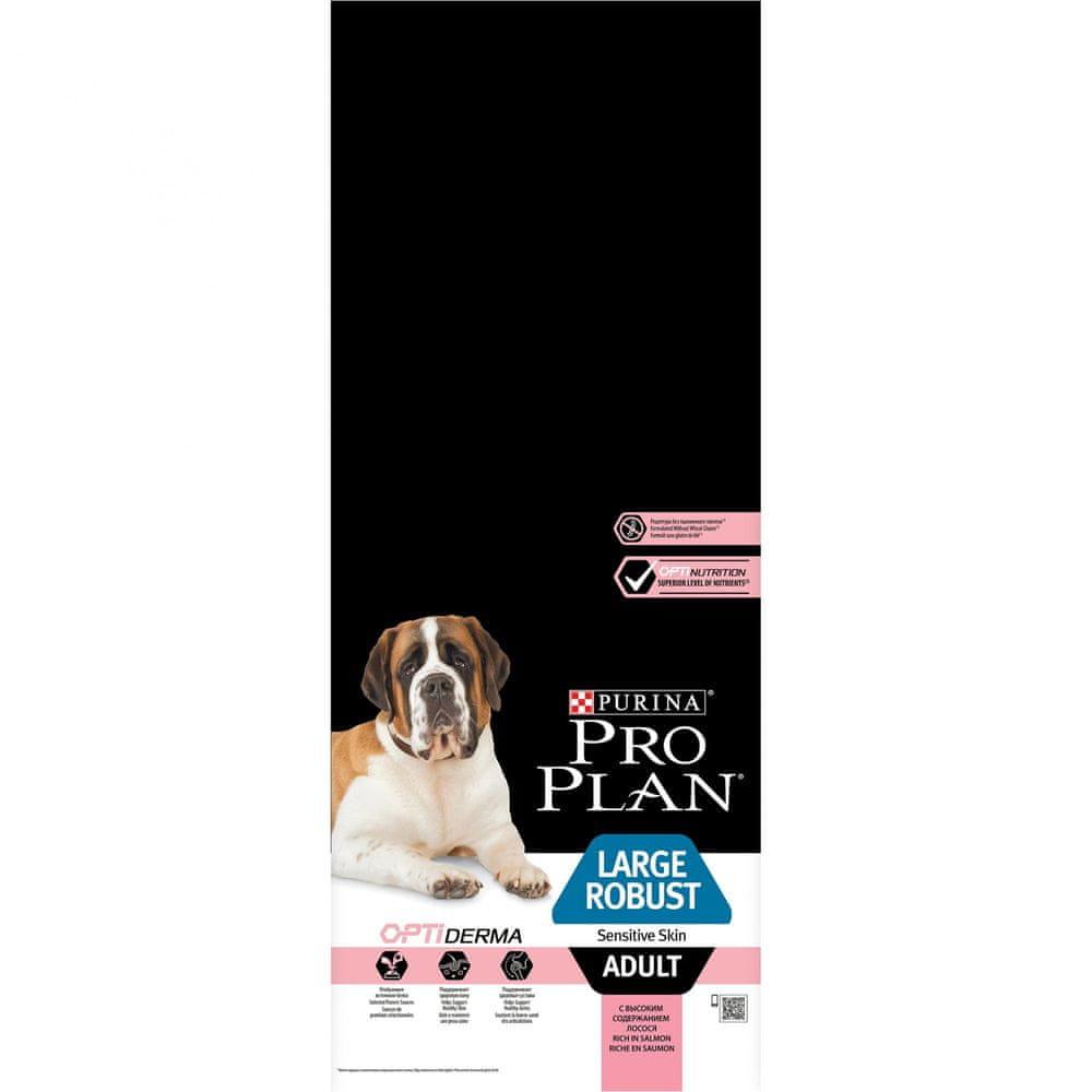 Purina Pro Plan Large Adult Robust OPTIDERMA losos 14kg