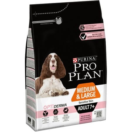 Purina Pro Plan Medium & Large Adult 7+ Sensitive Skin Optiderma 3kg