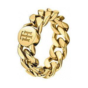 Tommy Hilfiger Fashion pozlacený prsten TH2700967 (Obvod 58 mm)