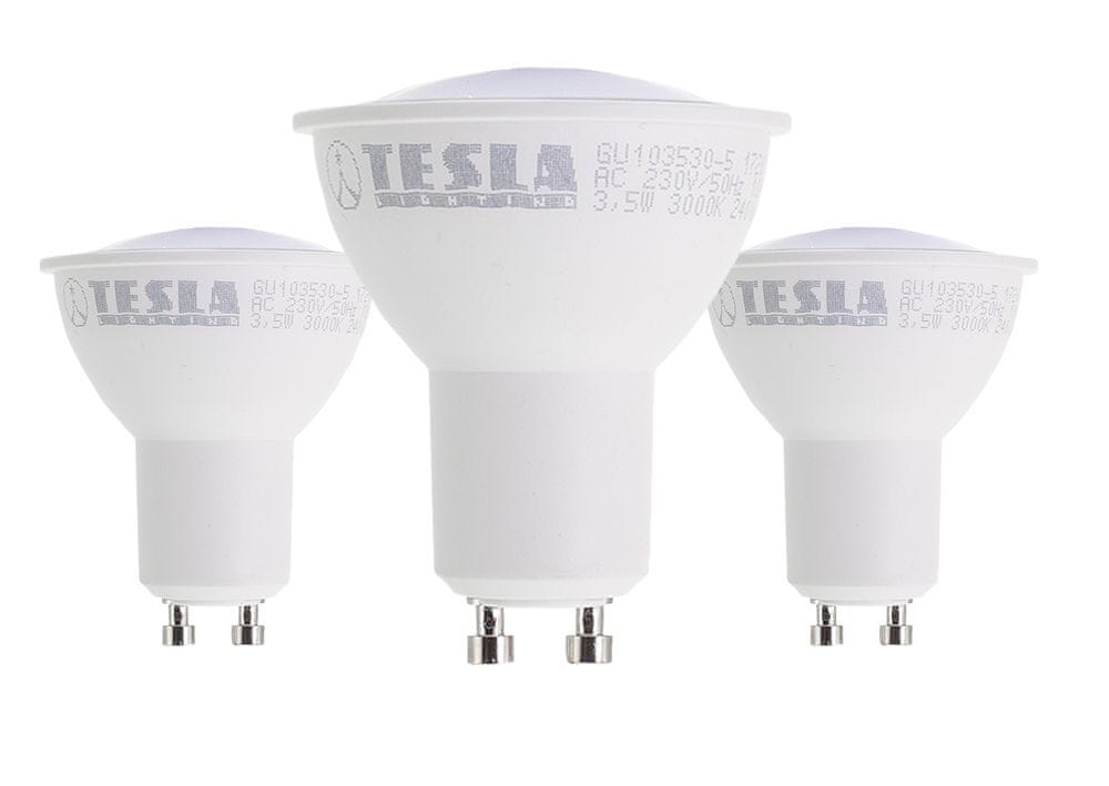 TESLA LED žárovka GU10, 3,5W 3pack