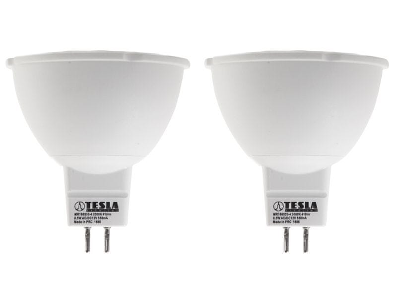 Tesla LED žárovka GU5,3 MR16, 6,5W 2pack