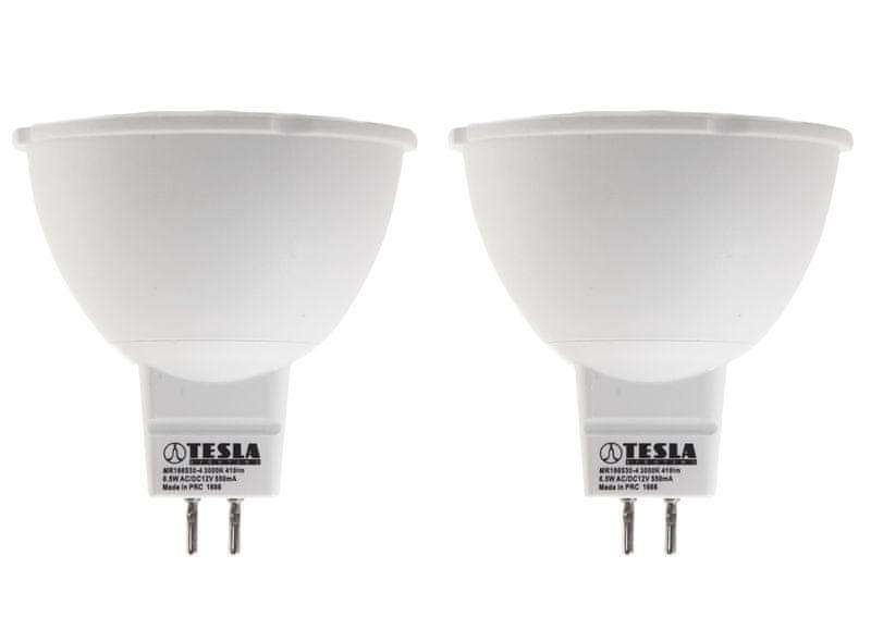 Tesla LED žárovka GU5,3 MR16, 6,5W 2pack