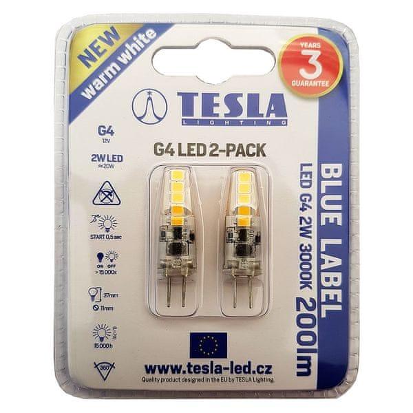 Tesla LED žárovka G4, 2W