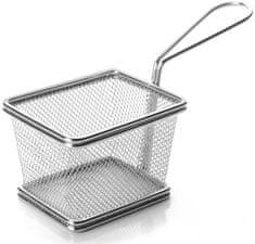 Weis Servírovací košík hranatý 10cm nerez