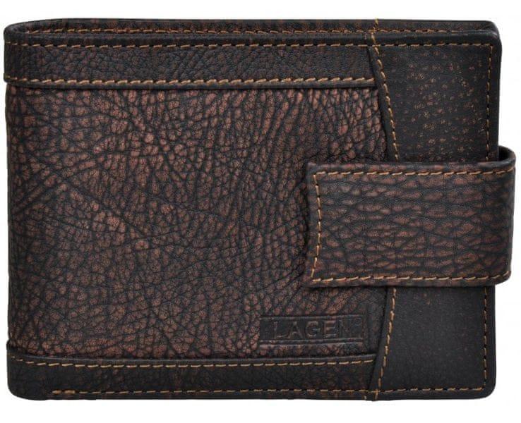 Lagen Pánská hnědá kožená peněženka Brown V-05/W-2