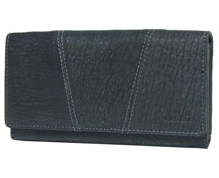 Lagen Dámská černá kožená peněženka Black PWL-388/W-1