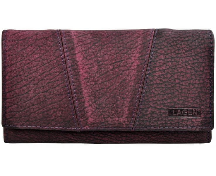 Lagen Dámská fialová kožená peněženka Purple PWL-388/W-3