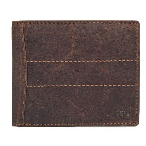 Lagen Pánská hnědá kožená peněženka Brown V-76/P