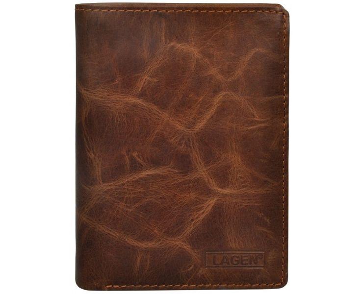Lagen Pánská hnědá kožená peněženka Brown V-26/V
