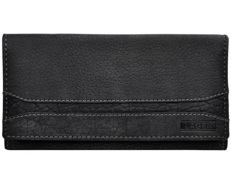 Lagen Dámská černá kožená peněženka Black W-2025/W-1