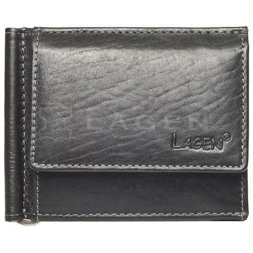 Lagen Pánská kožená peněženka dolarovka Black 1999/T